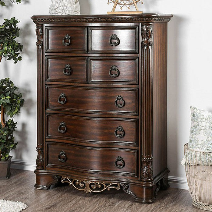 Furniture of America CM7311C Menodora Brown Cherry Finish Chest