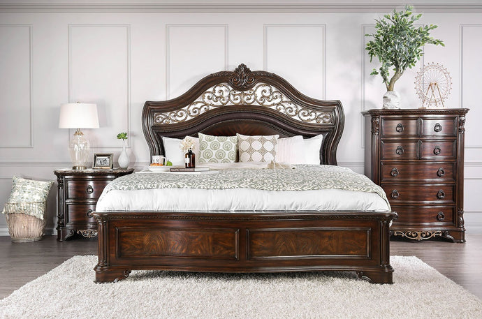 Furniture of America CM7311Q Menodora 4 Piece Queen Bedroom Set