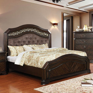 Furniture of America CM7752CK Calliope Espresso Finish Cal.King Bed