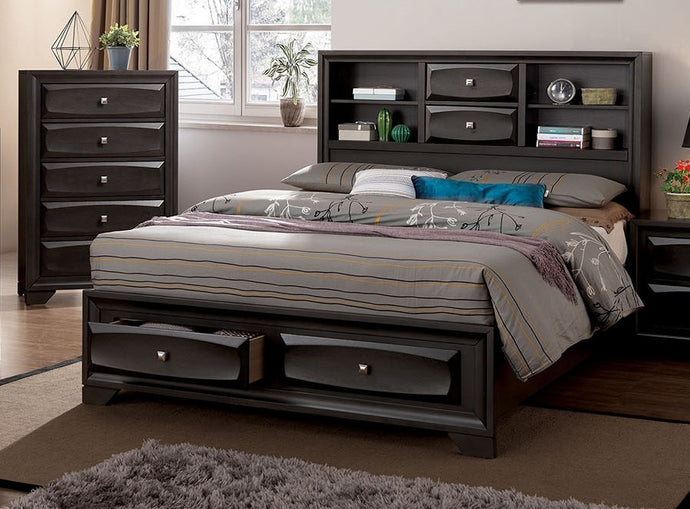 Furniture of America CM7555Q Carlynn Transitional Gray Queen Bed