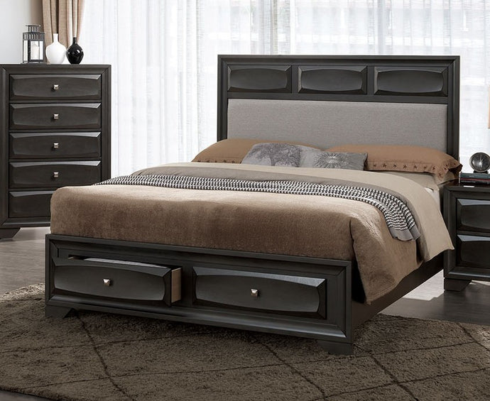 Furniture of America CM7553Q-DR Clotilde Transitional Gray Queen Bed