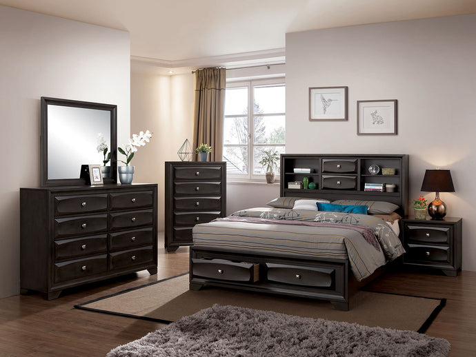 Furniture of America CM7555F 4 Piece Carlynn Gray Full Bedroom Set