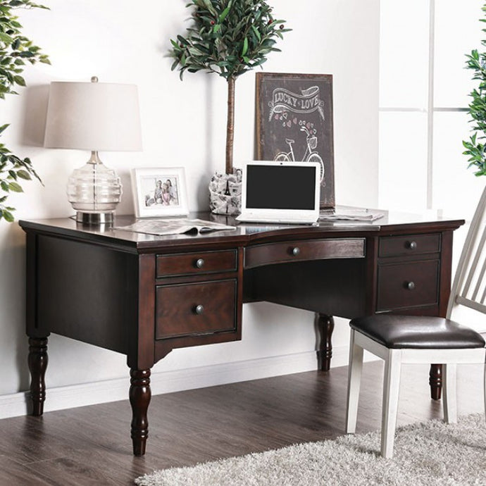 Furniture of America CM-DK5055 Lewis Dark Walnut Finish Desk
