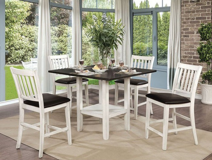 Furniture of America CM3197PT 5 Piece Raegan II Counter Ht. Table Set