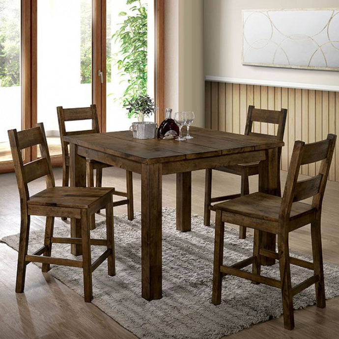 Furniture of America CM3060PT 5 Piece Kristen II Counter Ht. Table Set