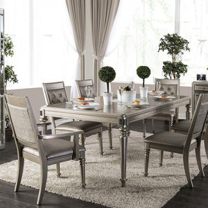 Furniture of America CM3239T Xandra Champagne Finish Dining Table