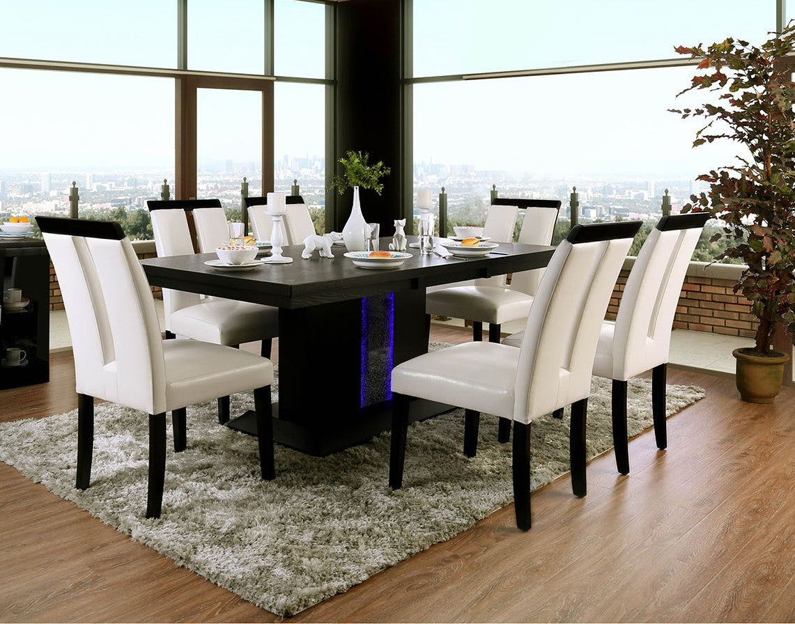 Furniture of America CM3394T 7 Piece Evangeline Dining Table Set