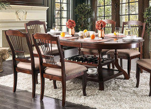 Furniture of America CM3626T Jordyn Brown Cherry Finish Dining Table