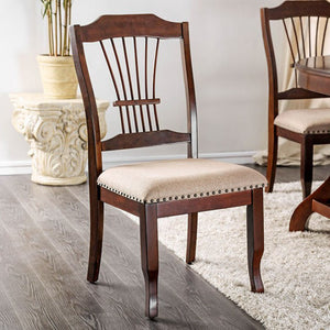 Jordyn Transitional CM3626SC Brown Cherry Dining Chair Set of 2