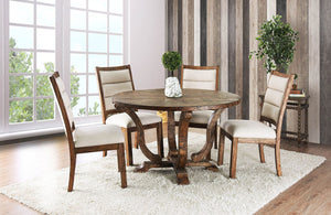 Furniture of America CM3395A-RT 5 Piece Isabelle Round Dining Set