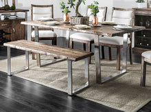 Load image into Gallery viewer, Furniture of America CM3451A-T Mandy Rustic Oak/Chrome Dining Table