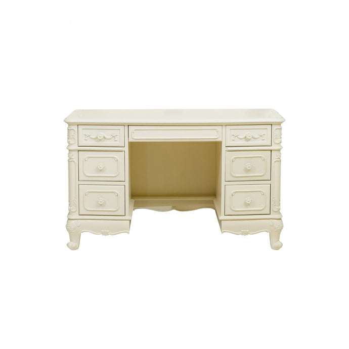 Homelegance Cinderella White Wood Finish Writing Desk