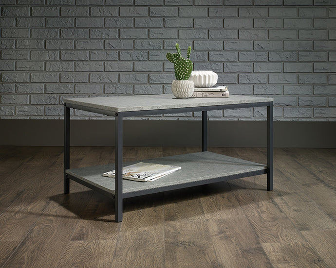 Sauder North Avenue Collection Charter Faux Concrete Coffee Table