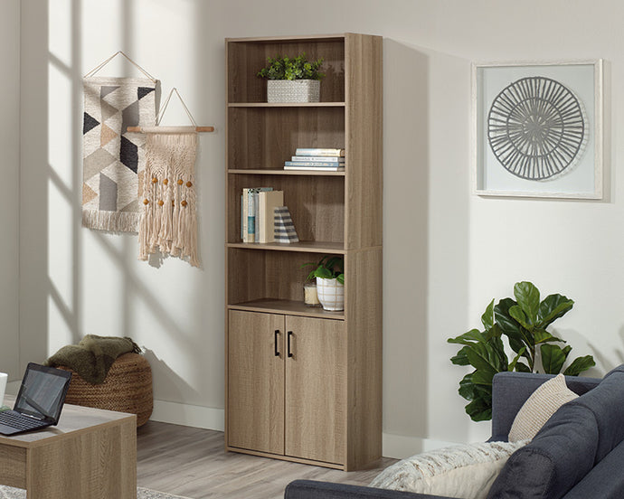 Sauder Beginnings Collection Summer Oak Finish Bookcase With Doors