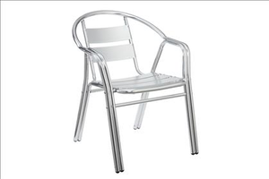 Aluminum Frame Outdoor Chair Poundex