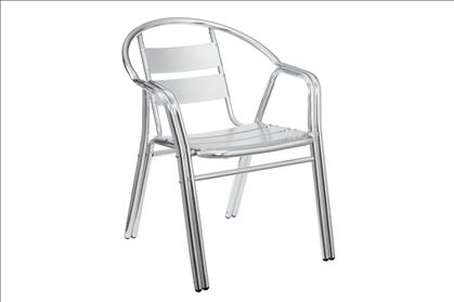 Poundex Silver Aluminum Frame Outdoor Chair