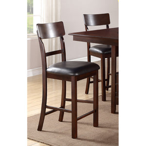 Poundex Chocolate Faux Leather Dining Chair Set Of 2