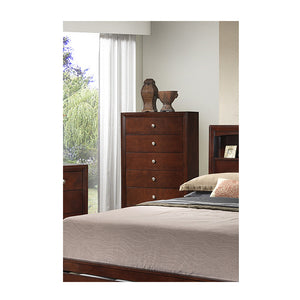 Poundex Cherry Bed Room Wood Finish Chest