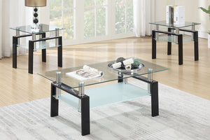 3 Piece Glass Dining Set