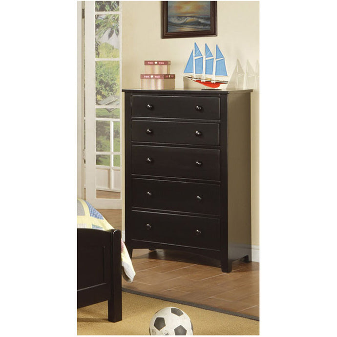 Poundex Black Color Drawer Bed Room Chest