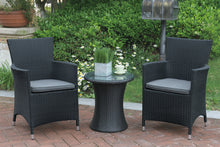 Load image into Gallery viewer, Poundex Black Wicker Outdoor Arm Chair