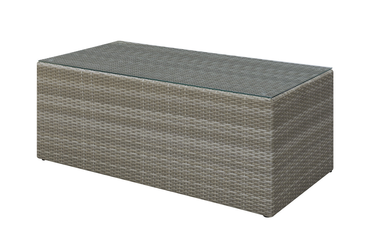 Poundex Grey Finish Outdoor Cocktail Table