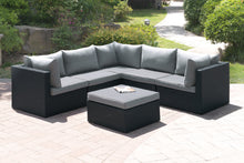 Load image into Gallery viewer, Poundex  Grey Resin finish Outdoor Ottoman