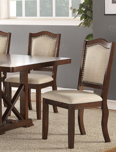 Poundex Walnut Finish Dining Chair Set Of 2