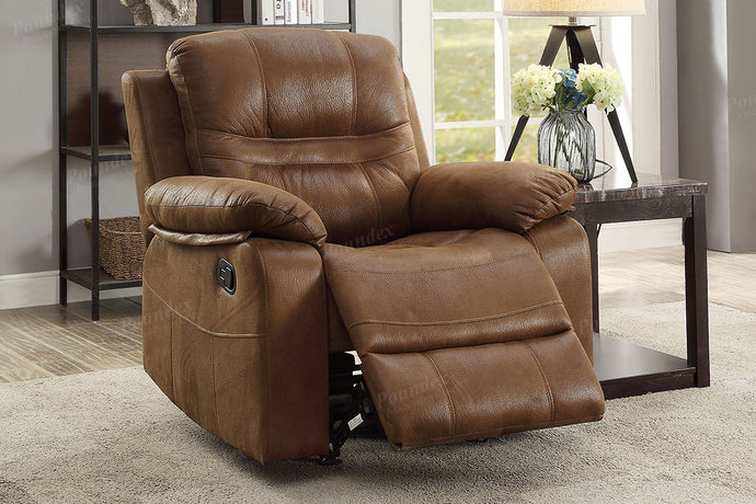 Dark Brown Breathable Leatherette Motion Recliner