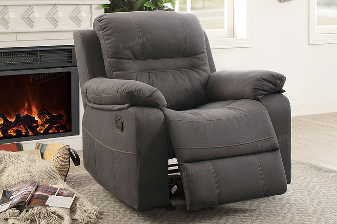 Slate Blue Breathable Leatherette Motion Recliner