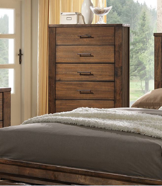 Poundex Natural Wood Minfy Finish Chest