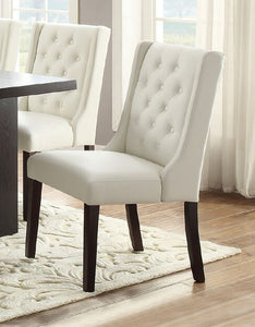 Sensational Dining Chair Set In White Of 2 Poundex Caraccident5 Cool Chair Designs And Ideas Caraccident5Info