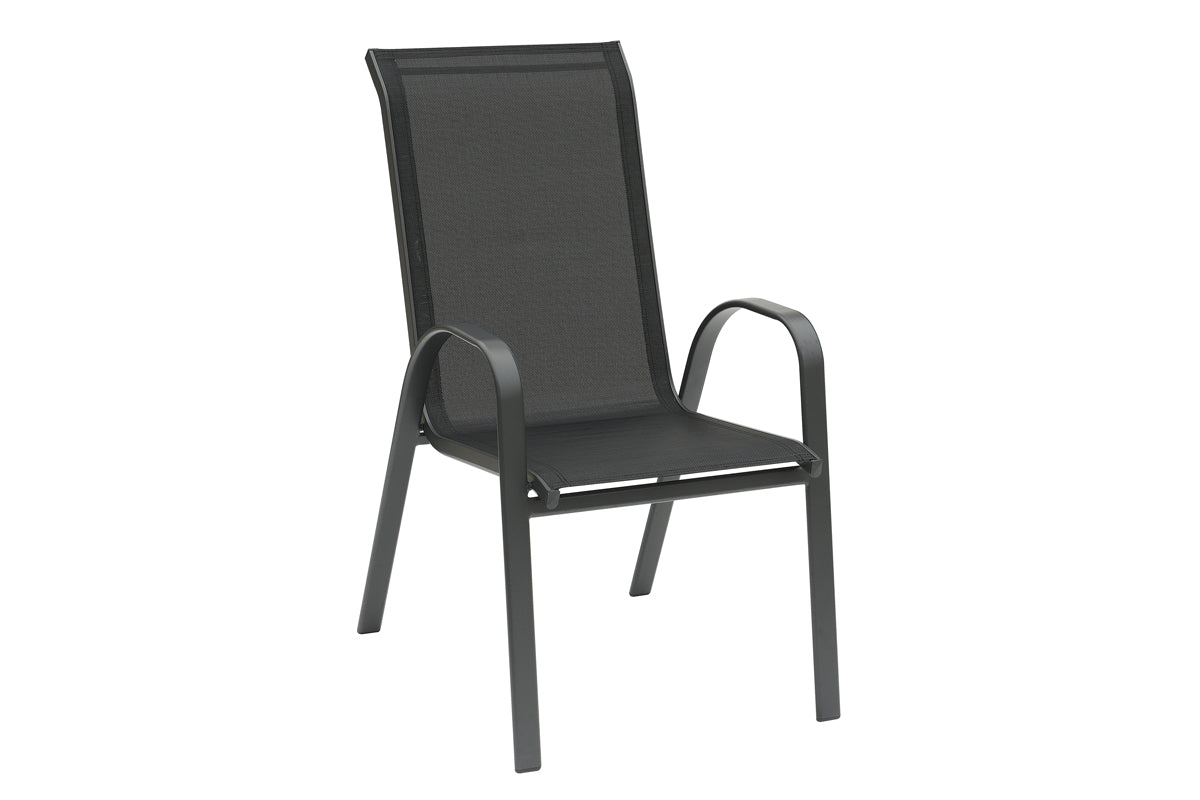 Poundex Vinyl Fabric And Aluminum Finish Outdoor Chair