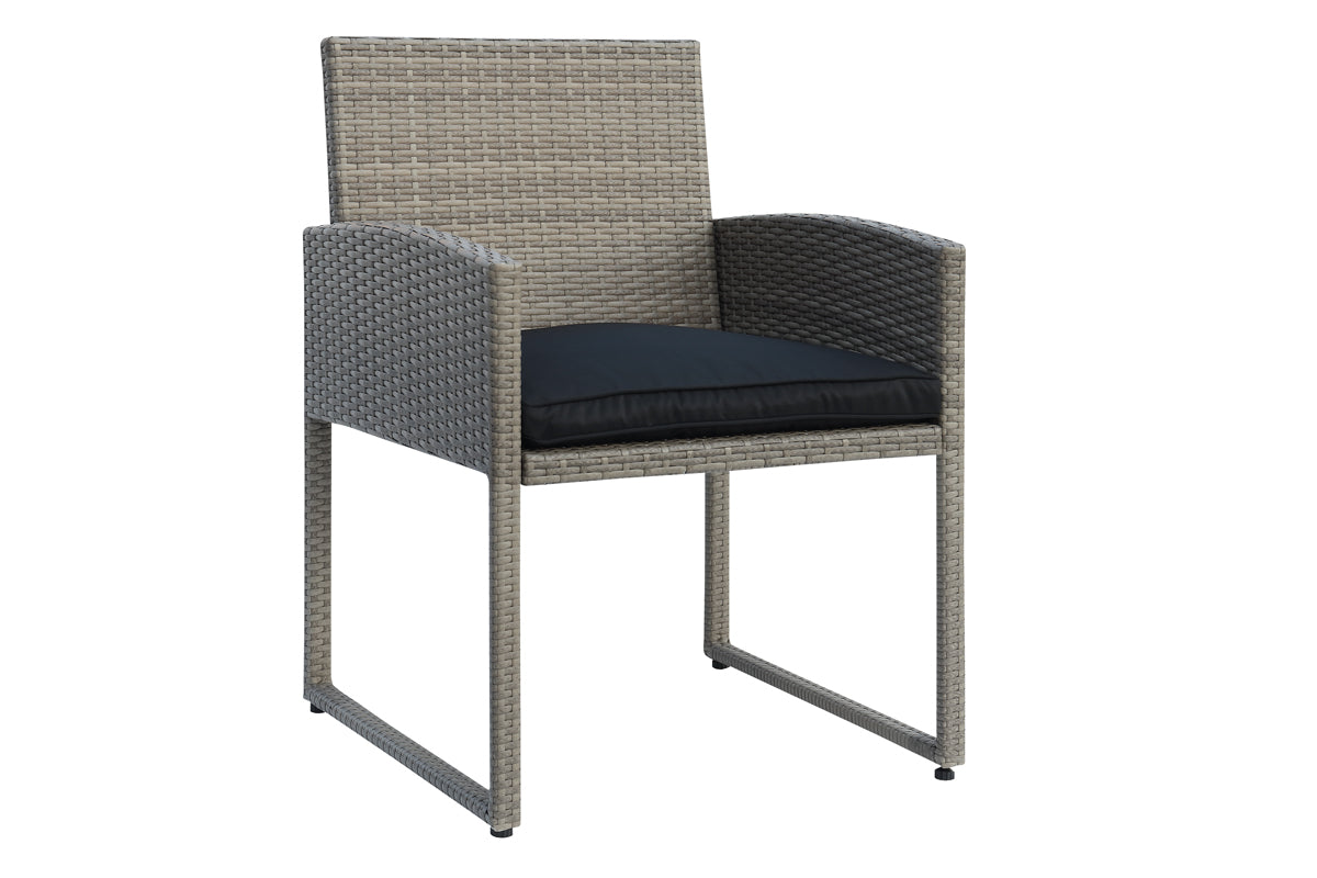 Poundex PE Resin Wicker Outdoor Chair Set of 2