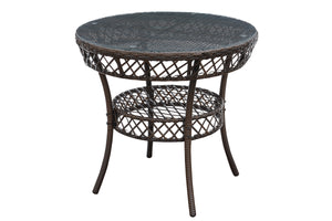 Poundex Metal Finish Outdoor Dining Table