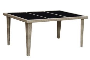 Poundex Natural Resin And Aluminum Finish Outdoor Dining Table
