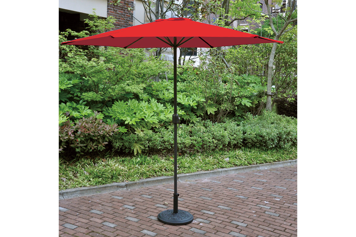 Poundex Red Finish 10 inches Umbrella