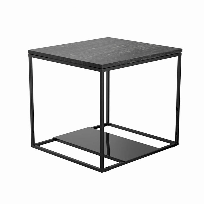 Homy Living Schwartzman Charcoal Metal Finish And Wood Finish End Table
