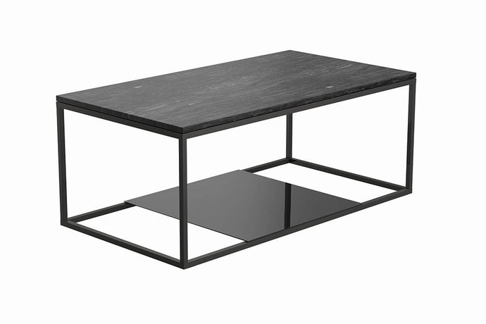 Homy Living Schwartzman Charcoal Metal Finish And Wood Finish Coffee Table