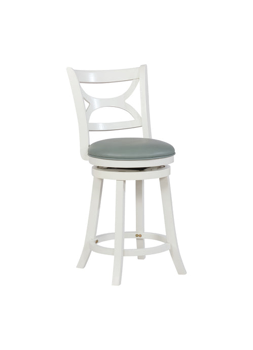 Powell Mandell white counter stool Wood Finish.