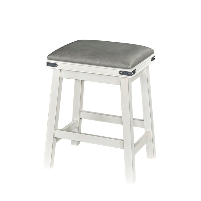 Powell Milligan White Finish Counter Stool.
