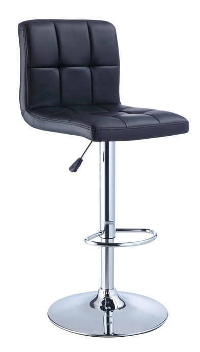Powell Black PU and Chrme Barstool