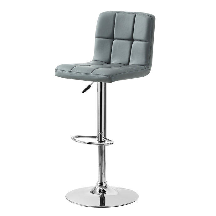 Powell Quilted Grey Finish Barstool