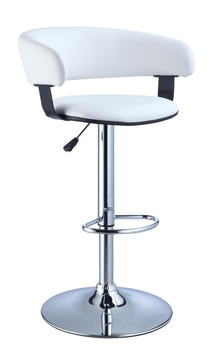 Powell White Finish PU Barstool