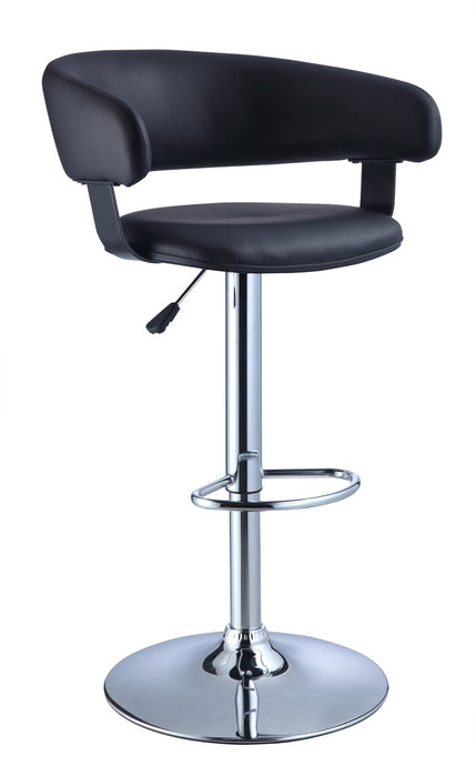 Powell Black Barrel Seat Barstool