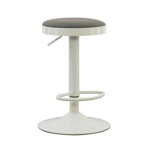 Powell Justine White Adjustable Barstool