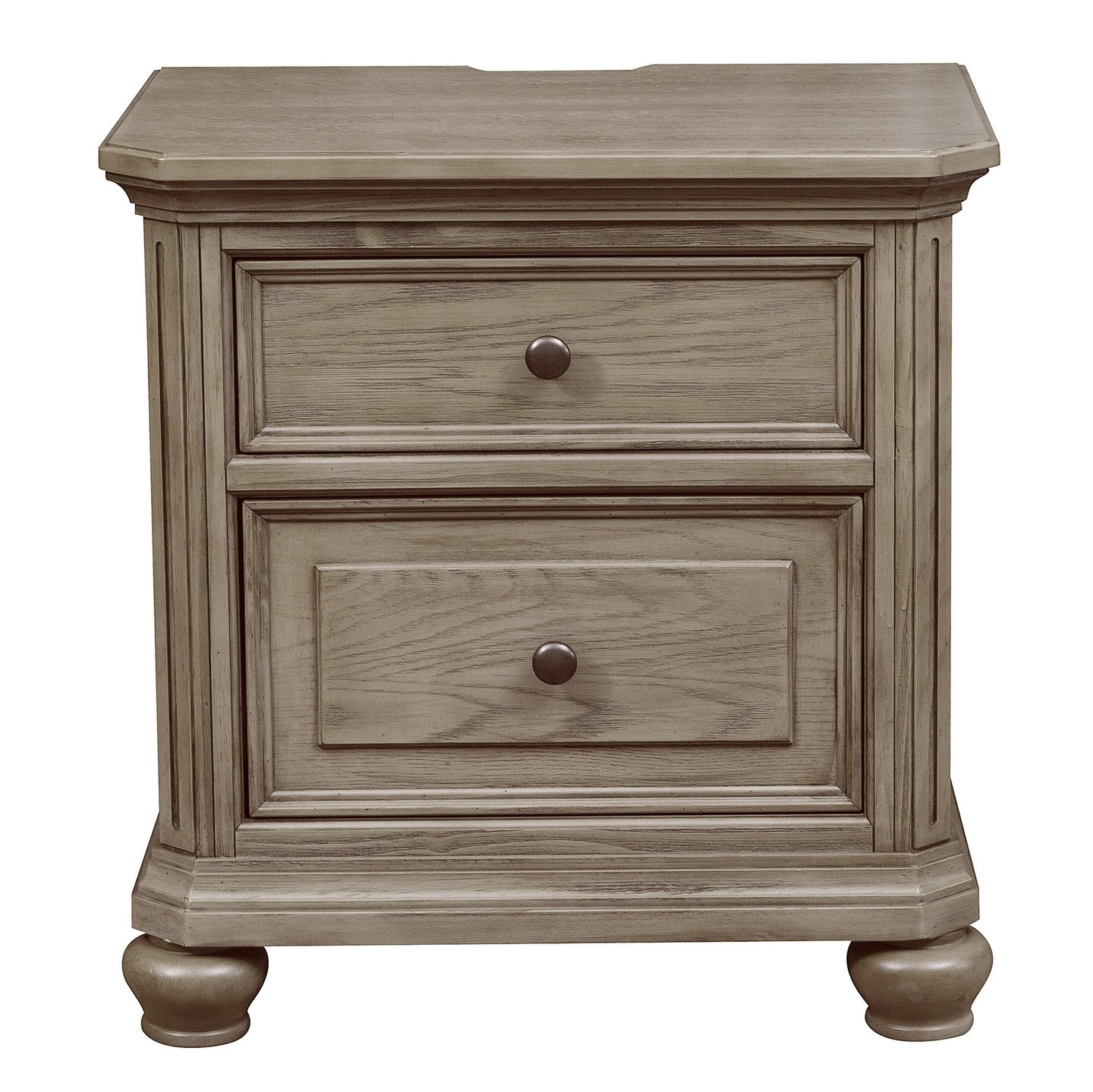 Homelegance Lavonia Gray Wood Finish Nightstand