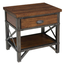 Load image into Gallery viewer, Homelegance Holverson Brown Wood And Metal Finish Nightstand