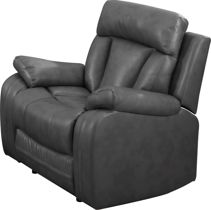 Benjamin Gray Bonded Leather Recliner Chair