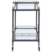 Load image into Gallery viewer, Acme 98370 Cyrus Black Glass Metal Finish Modern Service Cart